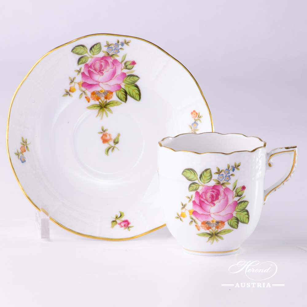 Small Coffee Cups And Saucers Small Bunch Of Roses Coffee Cup And Saucer 709 00 Pbr Herend Porcelain
