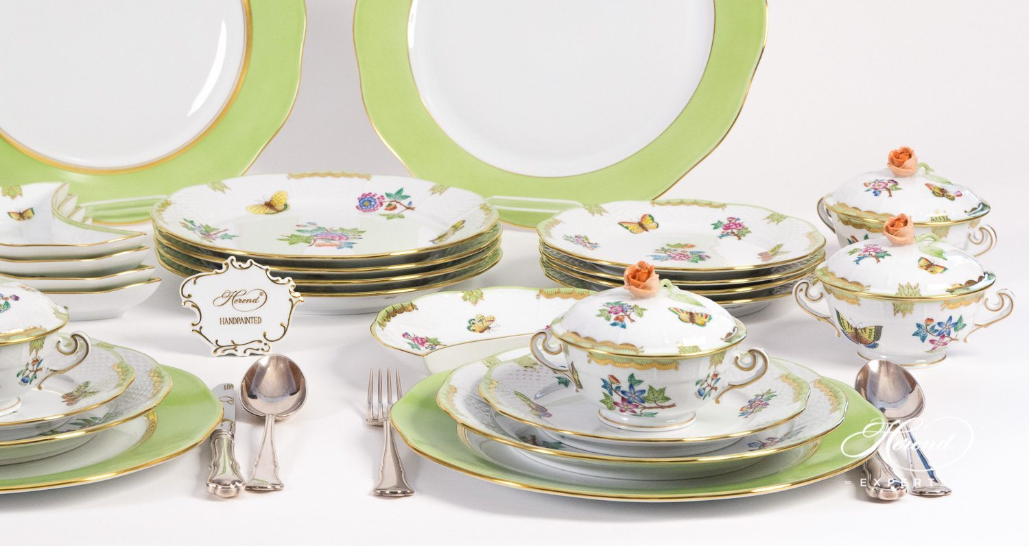 Dinner Set Dinner Set For 6 Persons Queen Victoria Vba Herend Experts