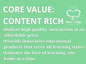 Here to Help Learning's Core Values