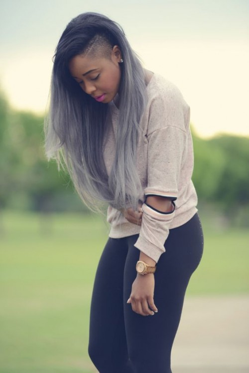 Blonde Hair With Black Roots 40 Grey Ombre Hair Ideas Herinterest
