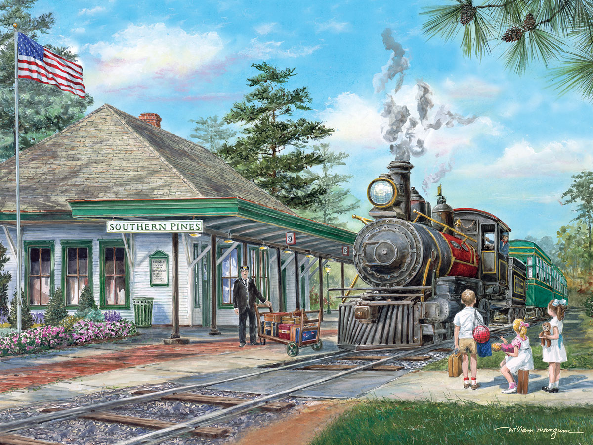 Florida Beach Fall Wallpaper Southern Pines Station Puzzle Jigsaw Puzzles