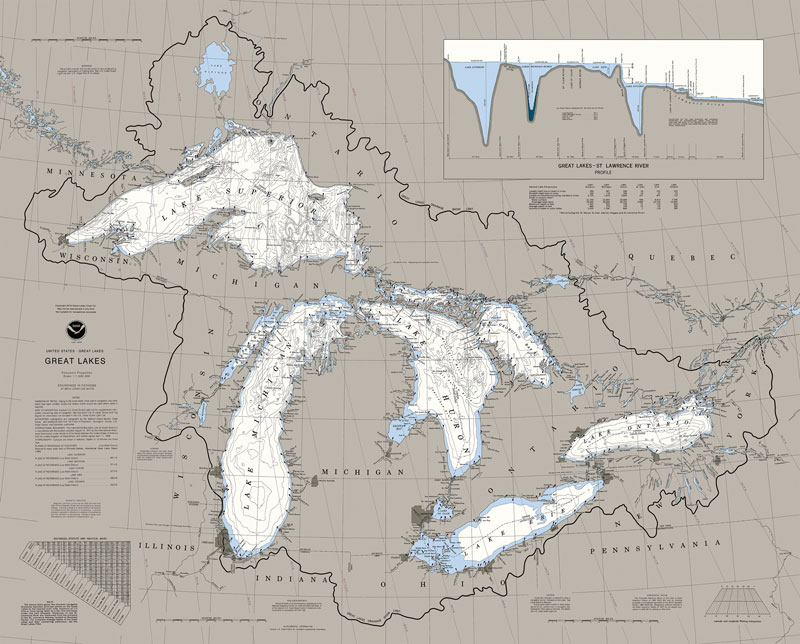 Great Lakes Nautical Chart Map Puzzle Jigsaw Puzzles
