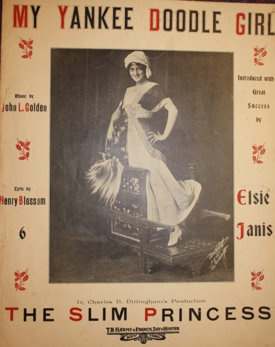"""Elsie Janis from cover of """"My Yankee Doodle Girl,"""" a song from """"The Slim Princess."""""""