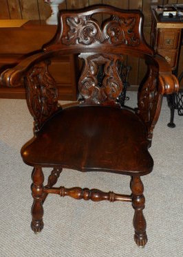 Likely John Broida's chair, brought to US from Eastern Europe.