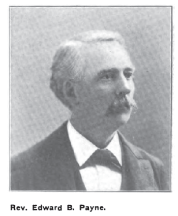 "Portrait of Edward B. Payne in ""Memories of an Editor"" by Charles S. Greene, Overland Monthly magazine, Bret Harte memorial, September 1902, page 269."