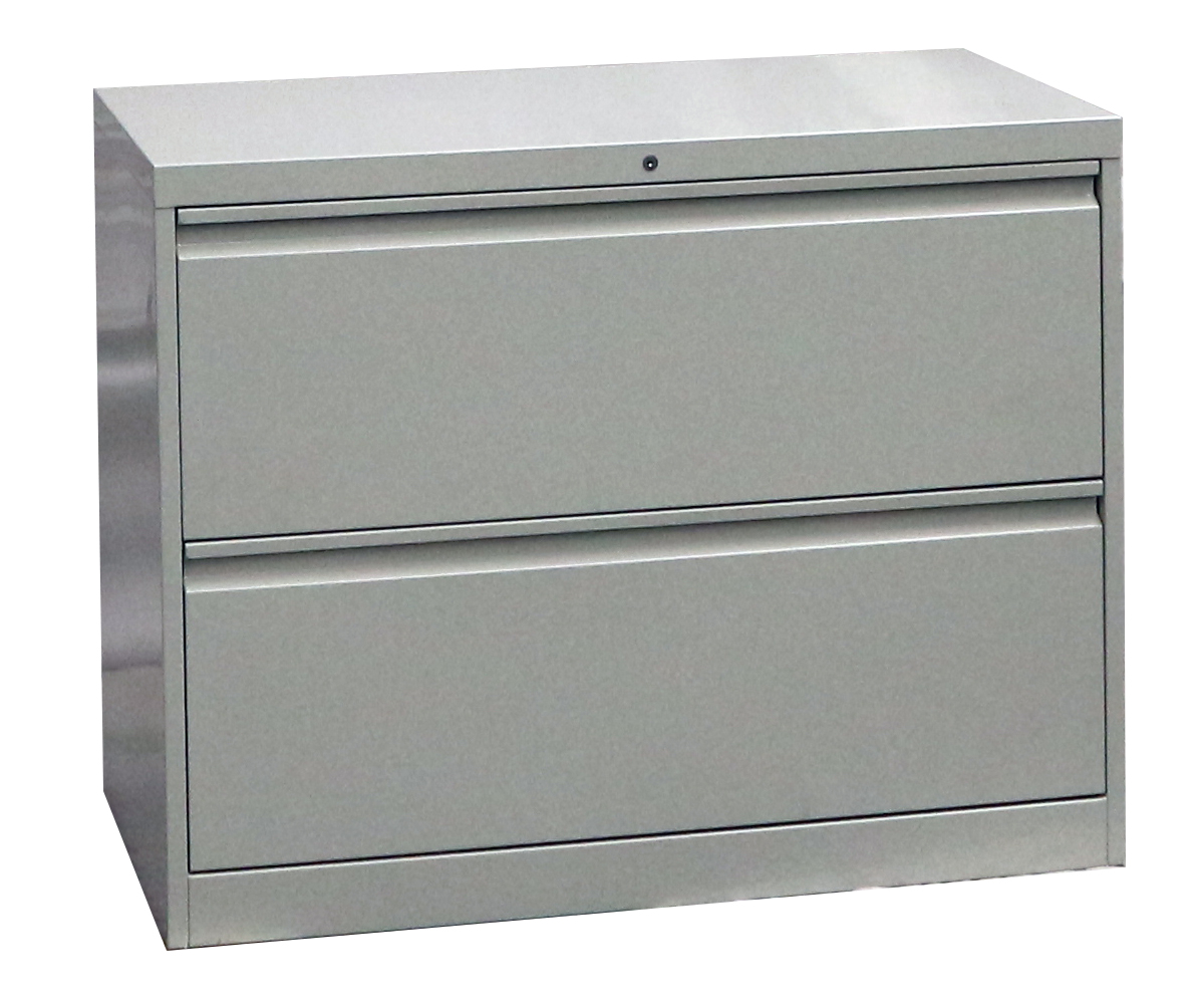Steel Lateral File Cabinet Goose Type Handle 2 Doors