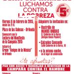 Cartel Cena del Hambre 2015 - Orihuela