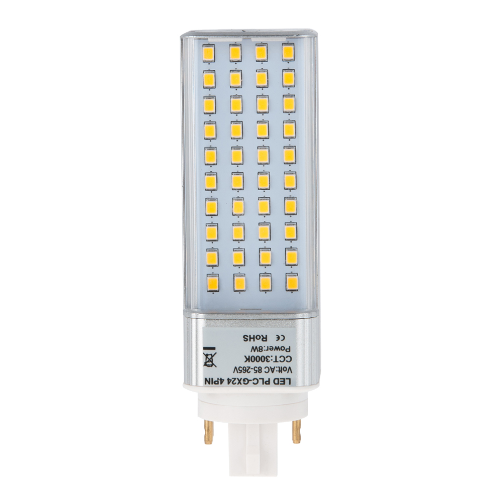 Plc Lamp Gx24q 4 Pin Led Bulb 8 Watts 18w Equivalent Gx24 40s 4p 14 95 Hero Led Com