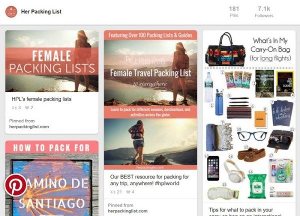 Travel DIY Create Your Own Packing Lists - Her Packing List - packing lists