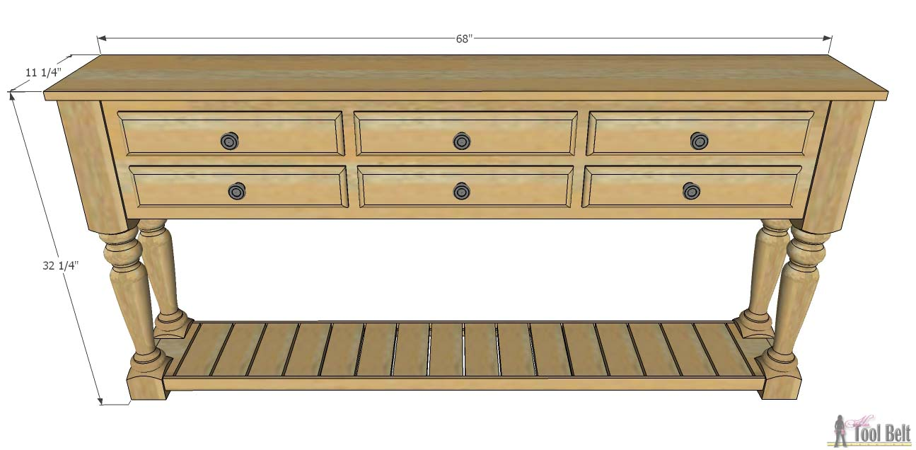 Console De Table Grand Island Console Table Her Tool Belt