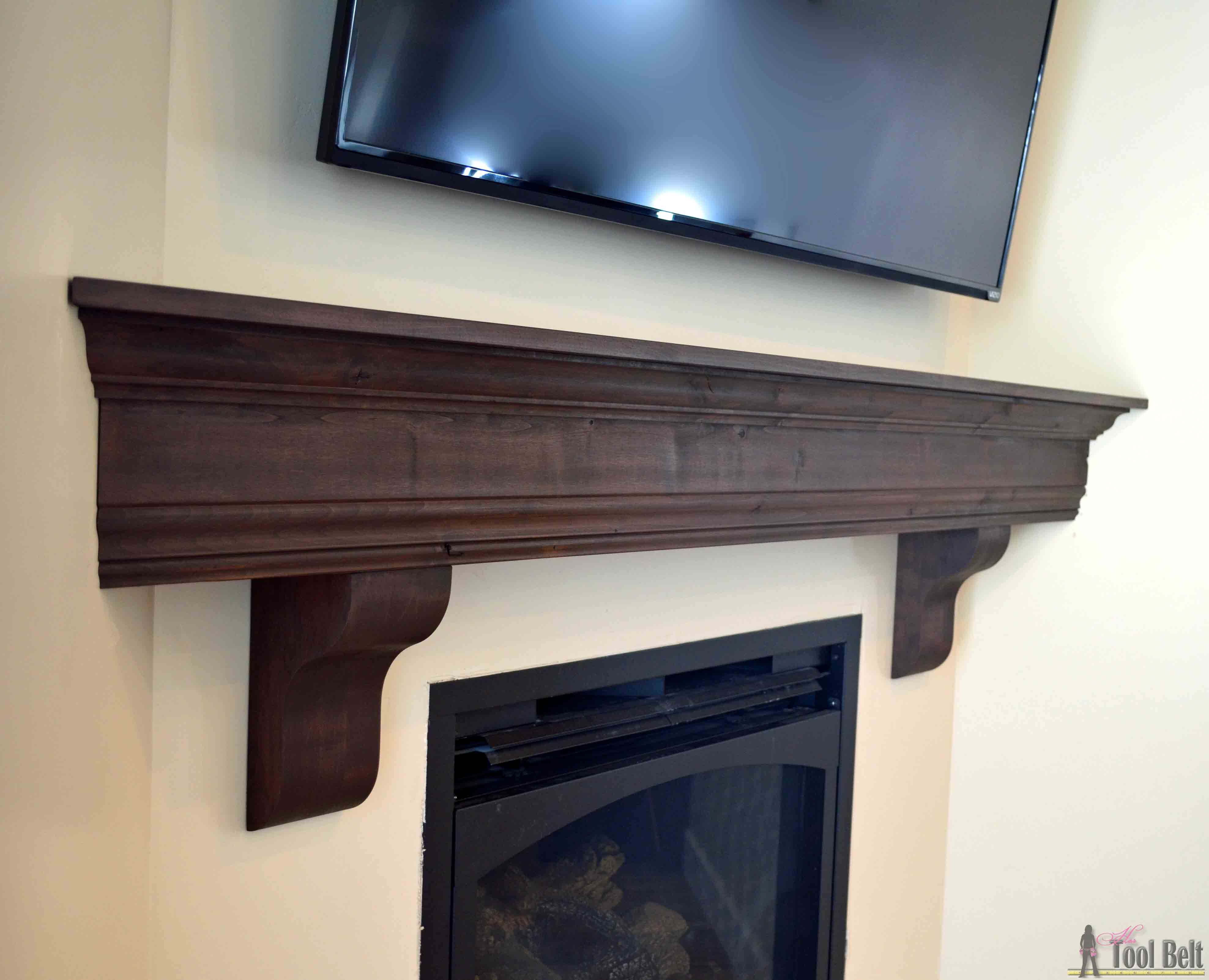 Fireplace Wall Mantels Diy Fireplace Mantel Shelf Her Tool Belt