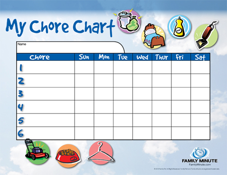 Mom Tips Her DIY Chore Charts \u2013 Her View From Home