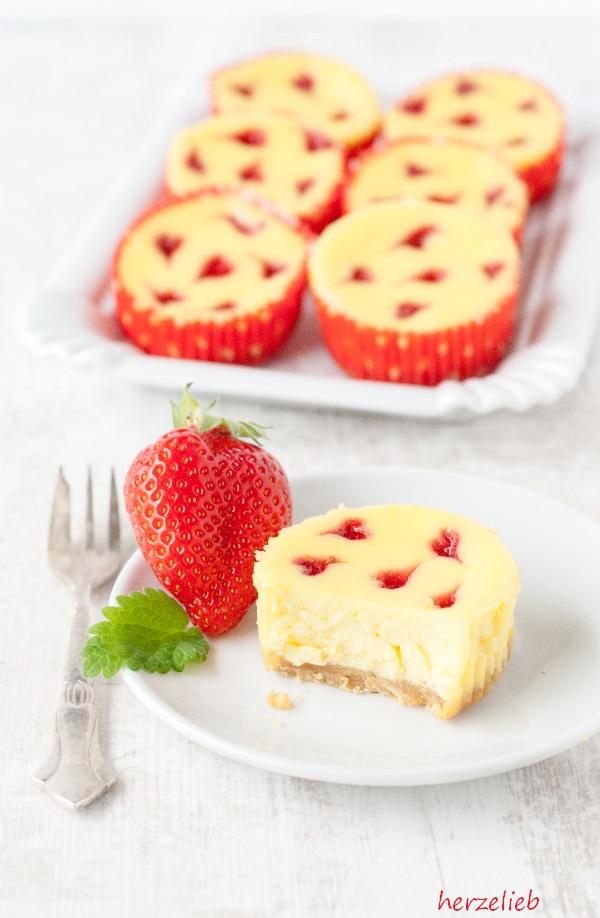 Käsekuchen-Muffins - Rezept zum Valentinstag oder Muttertag - chefkoch käsekuchen muffins