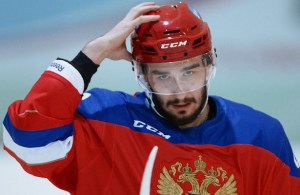 Hockey player Vyacheslav Voinov holds training session in Novogorsk