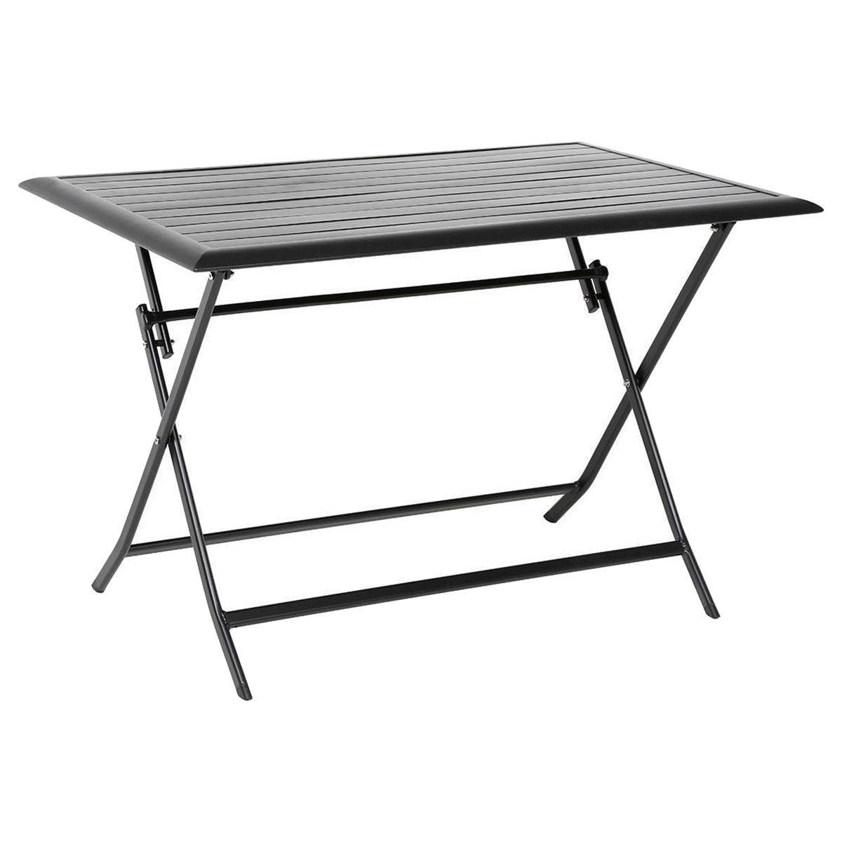 Table Terrasse Pliante Table De Terrasse Pliante Rectangulaire Azua Noire