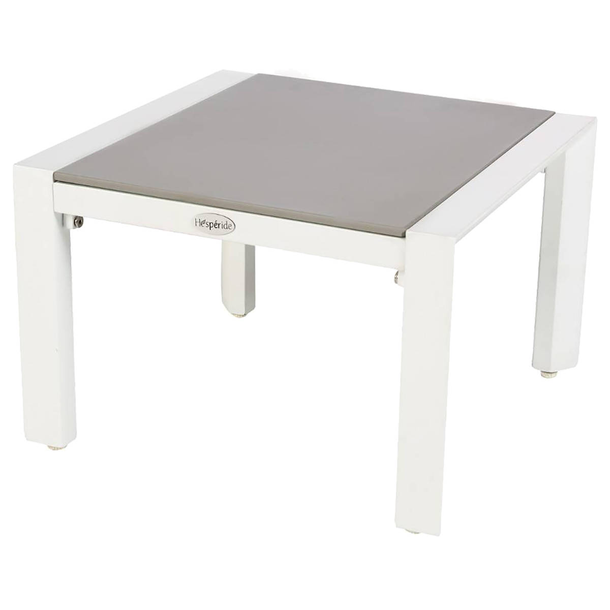 Table D Appoint De Jardin Table D 39appoint De Jardin Carrée Titanium Perle And Blanc