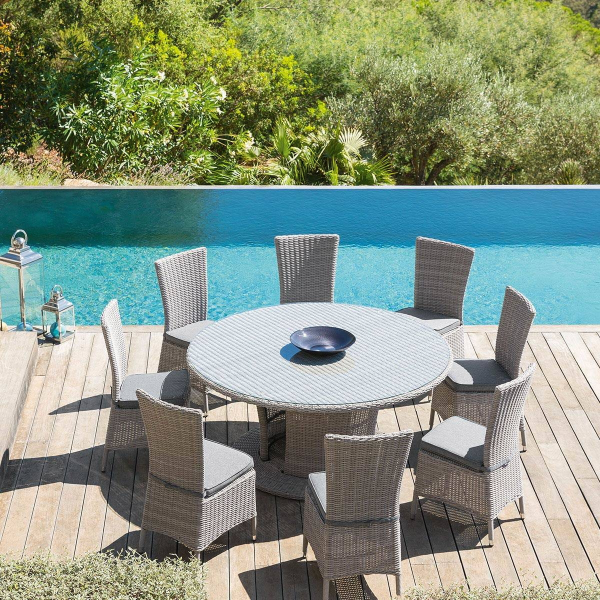 Table De Jardin Ronde Table Ronde Jardin. Grande Table Ronde De Jardin En Teak