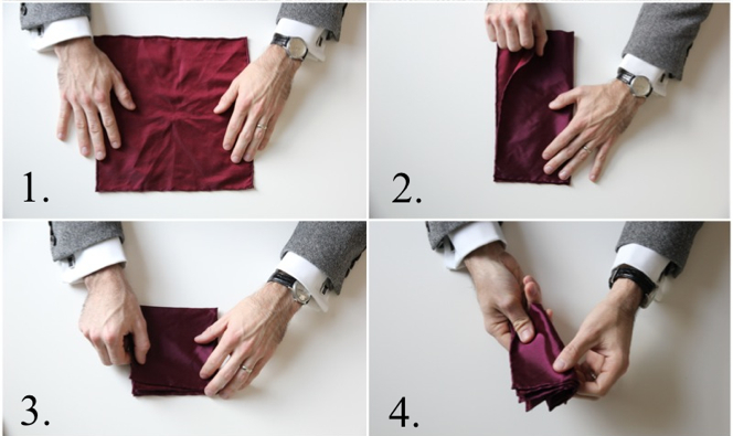 How To Fold a Pocket Square: Classic Fold - He Spoke Style