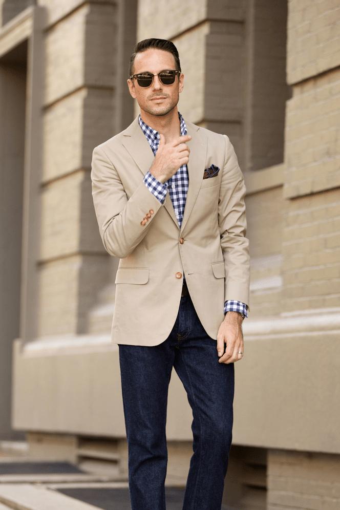 Casual Khaki Blazer He Spoke Style
