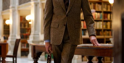 Brown Tweed Suit - He Spoke Style