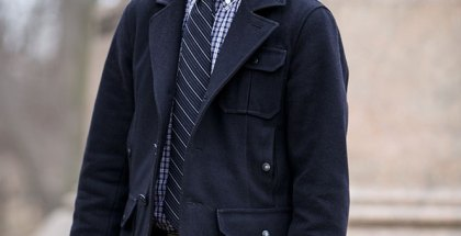 All Navy Winter Style - He Spoke Style