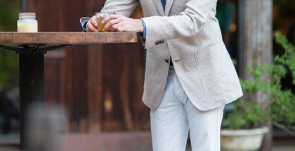 Suitsupply Blazer White Denim - He Spoke Style