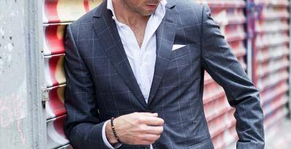 Gray Windowpane Suit - He Spoke Style