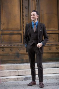 Dark Brown Suit - Hardon Clothes