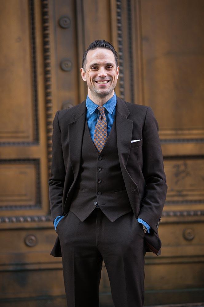 Dark Brown Suit Shirt Tie Combinations