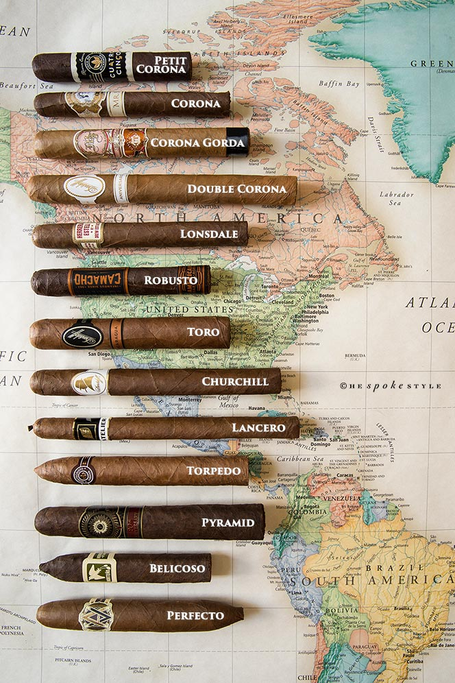 The HSS Guide To Cigar Sizes  Shapes - He Spoke Style