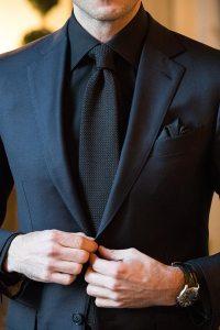 Black Tie Black Shirt Custom Shirt
