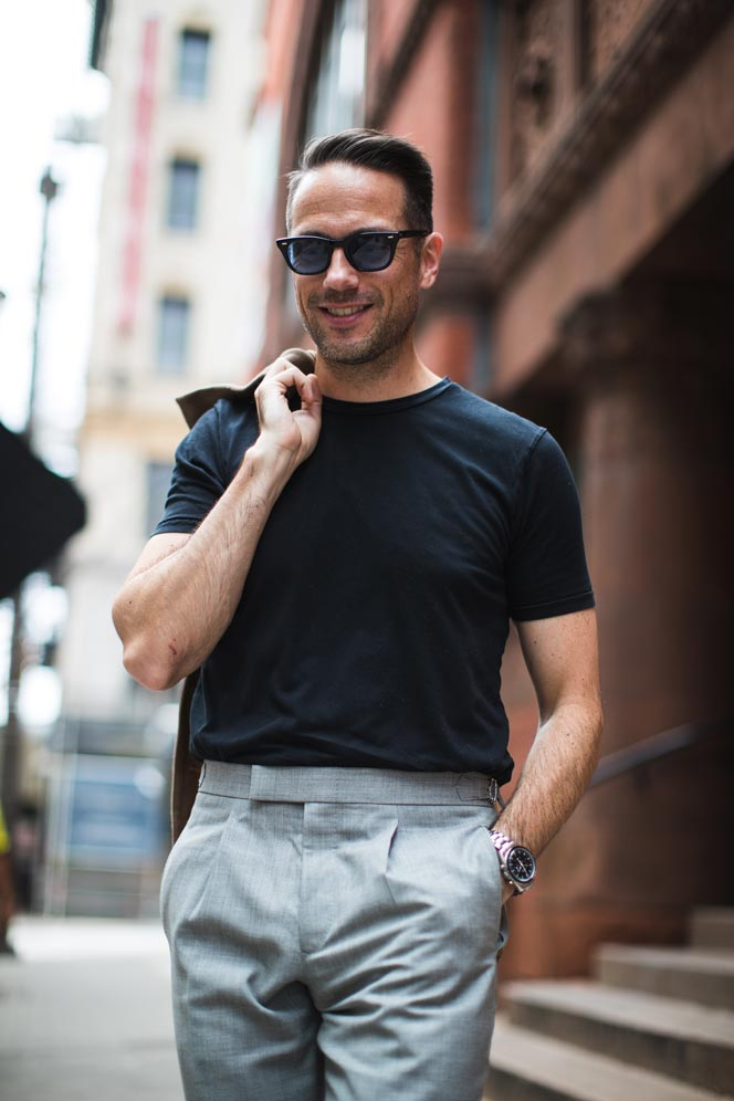 Pulling Off A T-Shirt With Dress Pants It\u0027s Possible - He Spoke Style