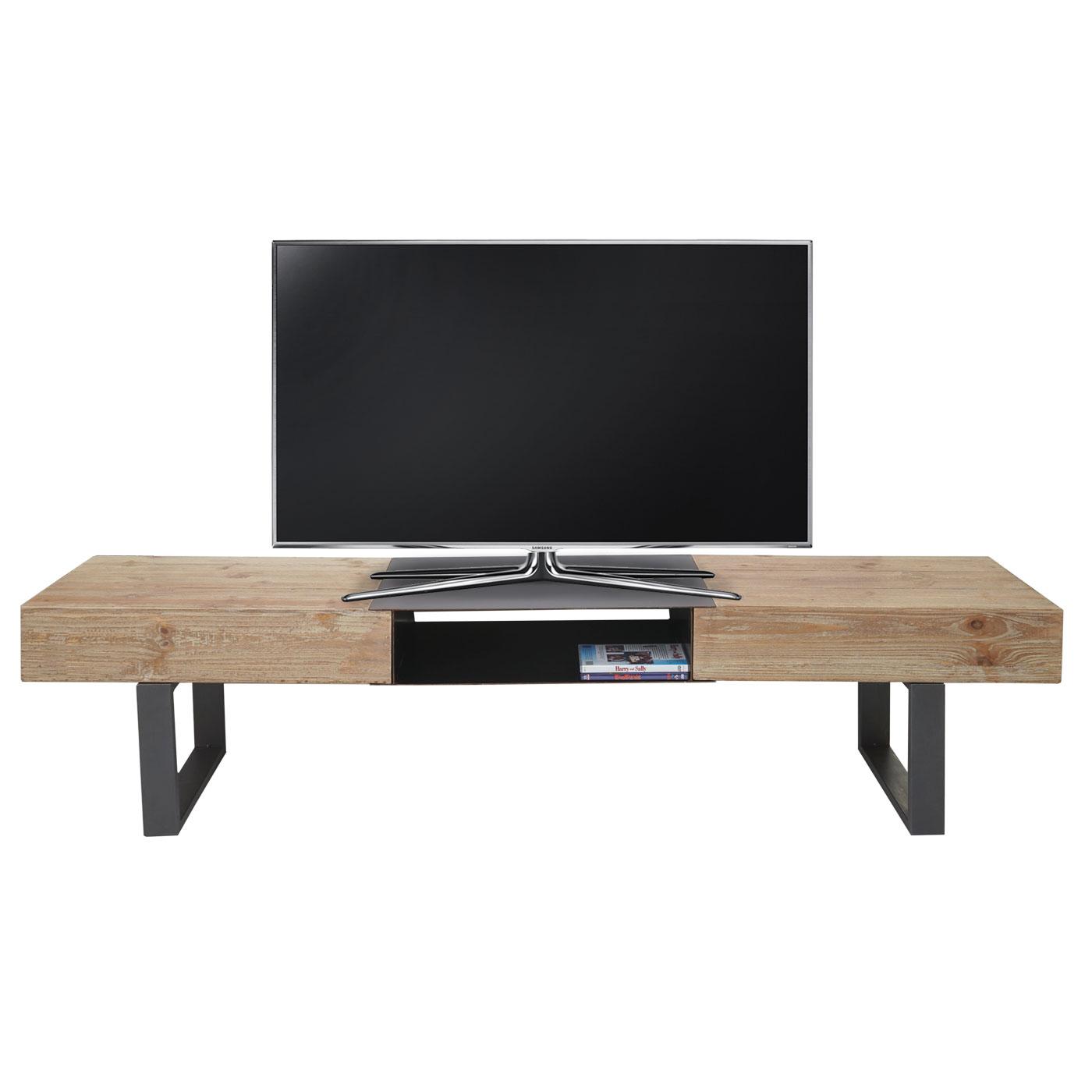 tv rack hwc a15 fernsehtisch tanne holz rustikal massiv 46x180x41cm