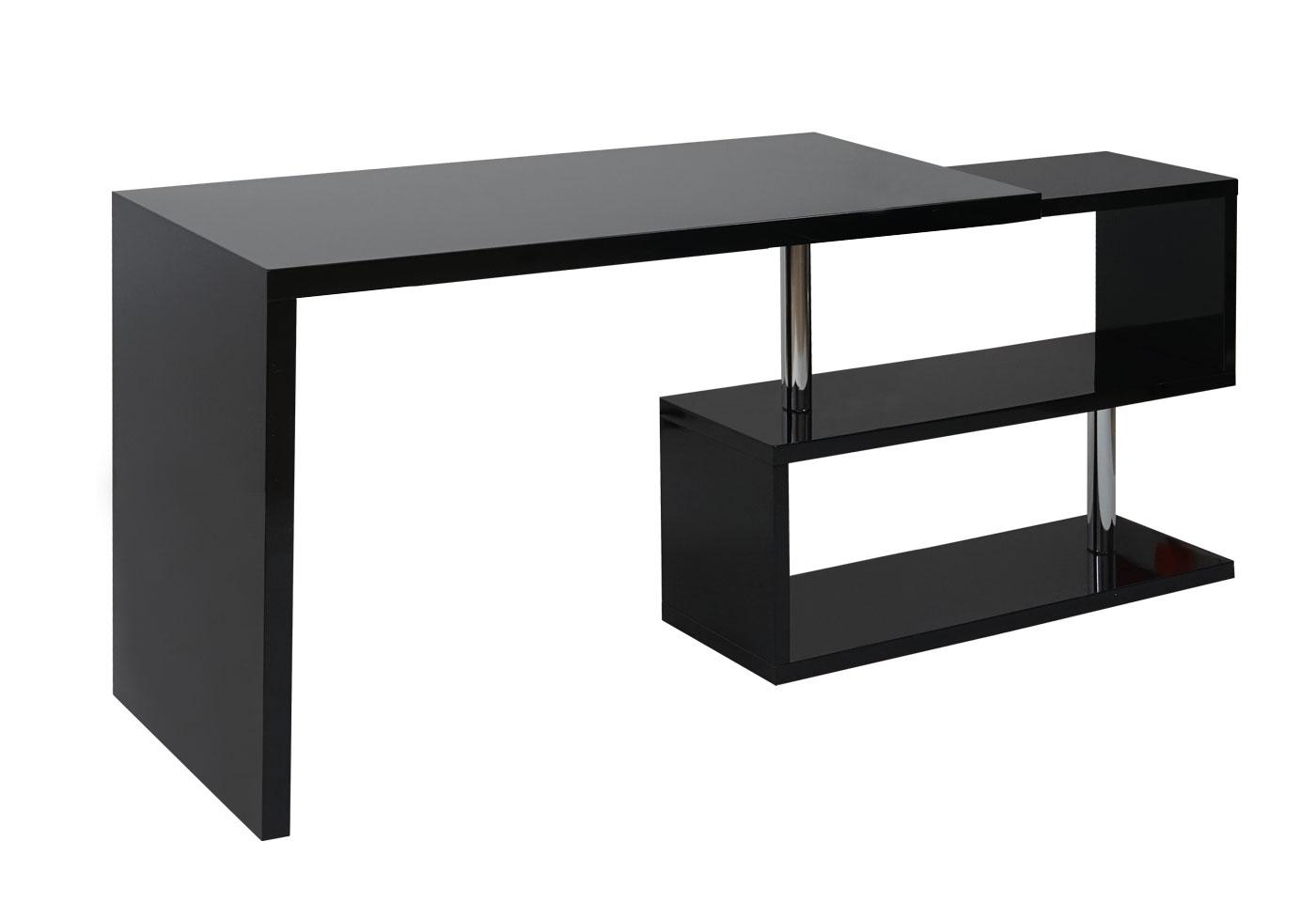 Designer Schreibtisch Mariebella In Schwarz Burotisch Glas Top