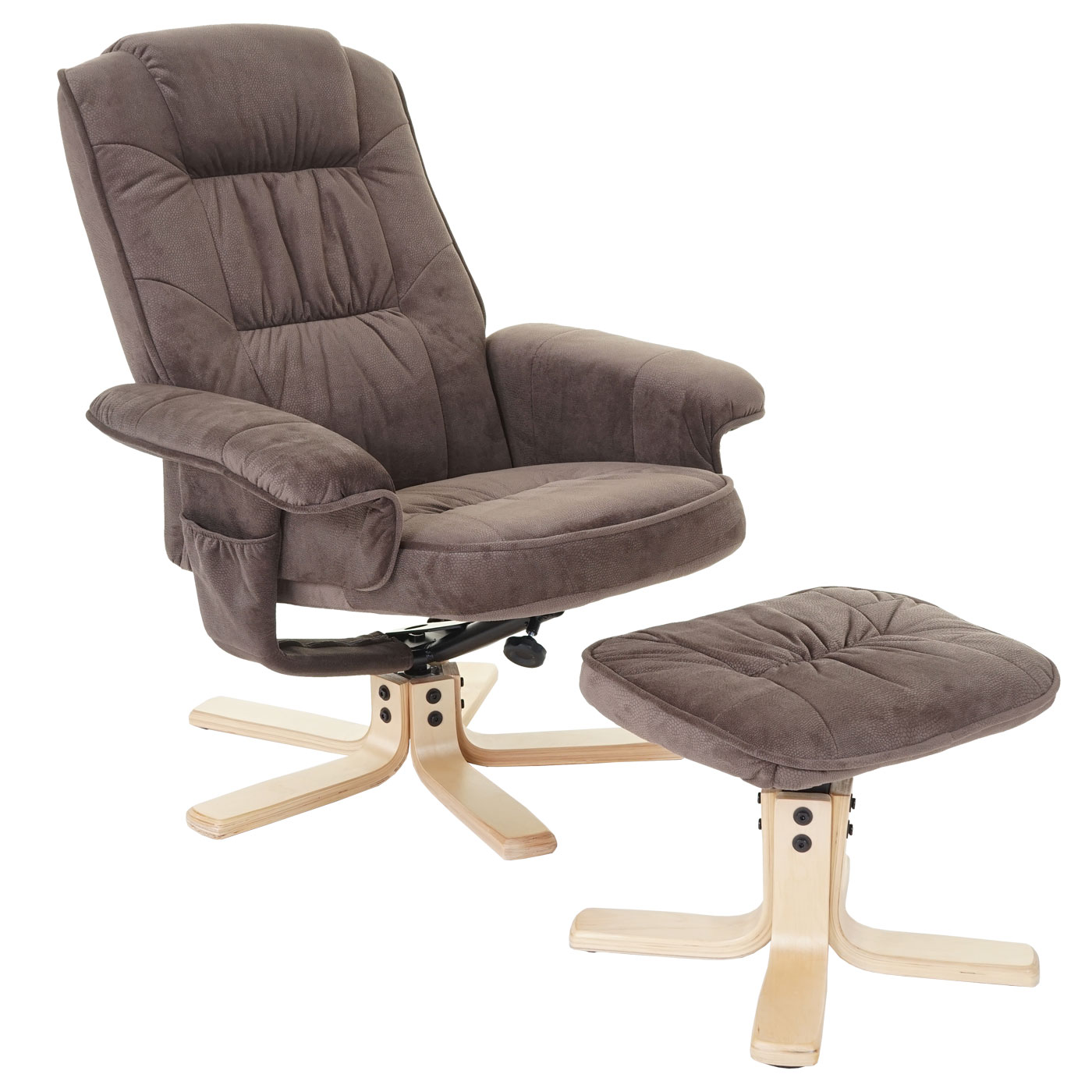 Tv Sessel Mit Massagefunktion Relaxsessel M56 Fernsehsessel Tv Sessel Mit Hocker Stoff Textil Wildlederimitat