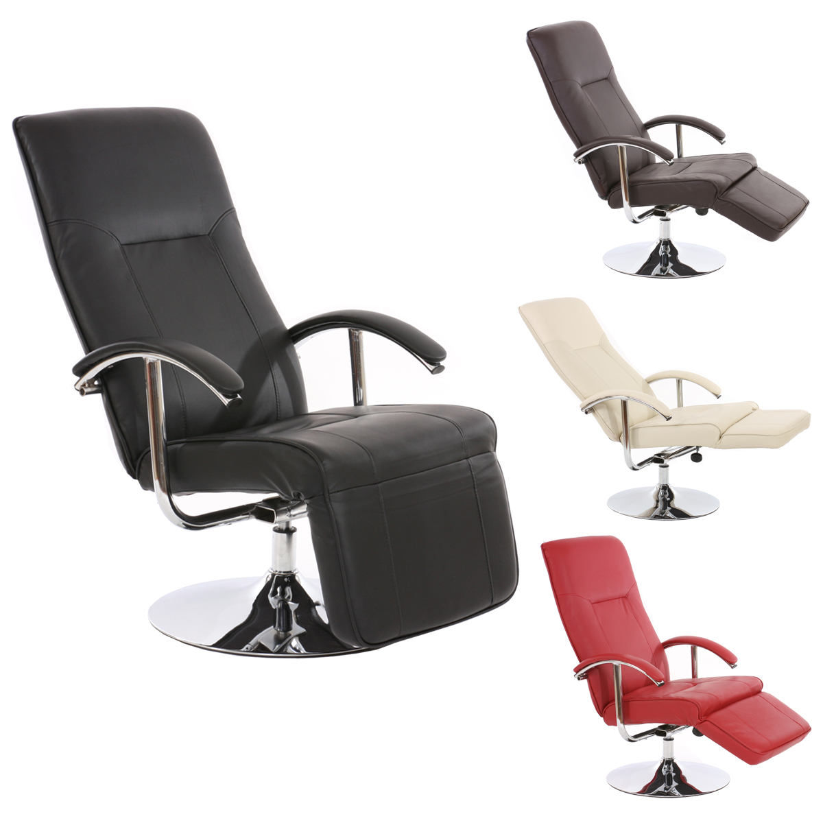 Relaxsesse Relaxliege Relaxsessel Apia Ii Leder And Kunstleder Braun