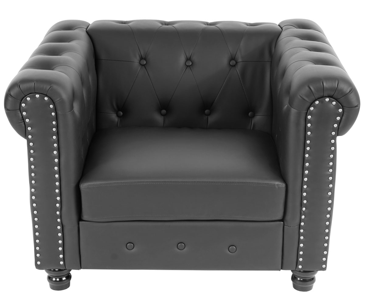 Einzelne Sessel Luxus Sessel Loungesessel Relaxsessel Chesterfield