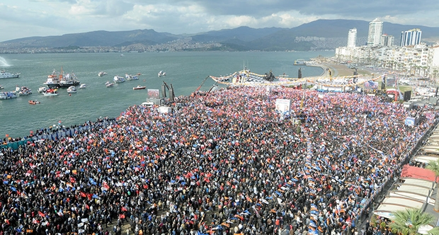 Митинг в поддержку про-курдской HDP в Измире