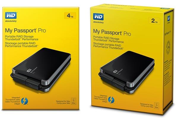 Wd My Passport Pro Thunderbolt Powered Portable Dual