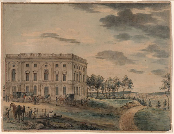 The U.S. Capitol as it appeared circa 1800, when DC became capital