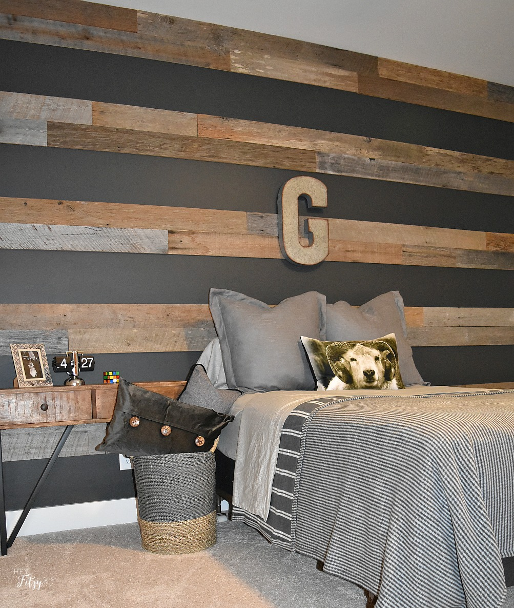 Boys Room Walls How To Create A Barn Wood Accent Wall Hey Fitzy