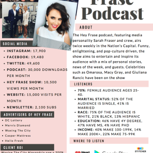 How To Make Your Brand One Sheet and Monetize Your Podcast