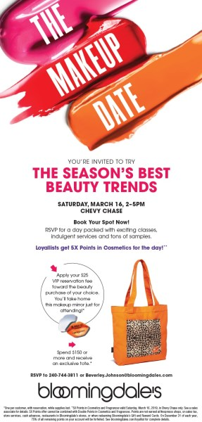 Makeup event at bloomingdale's Afternoon Session