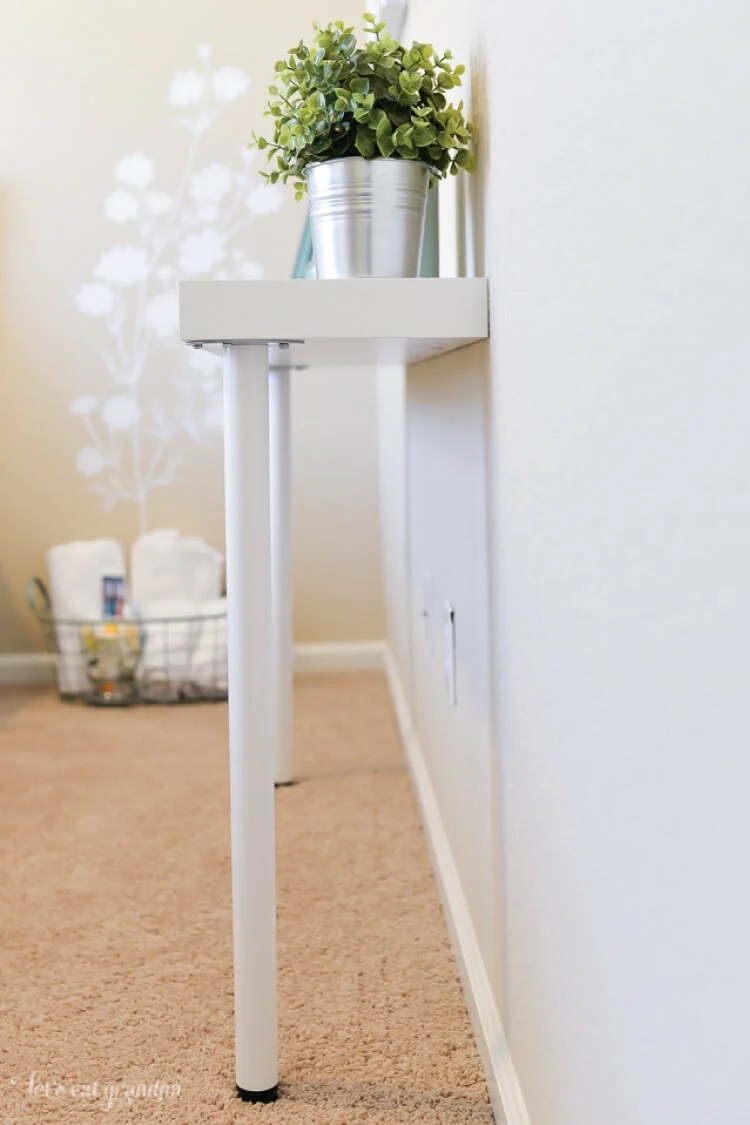 Table Console Ikea Simple Ikea Hack Narrow Console Table Hey Let S Make Stuff