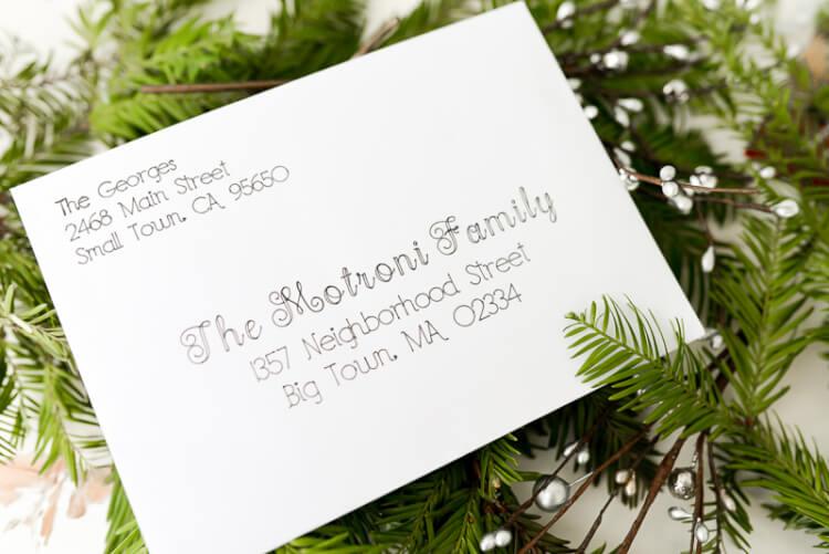 Address Christmas Cards using your Cricut Explore - Hey, Let\u0027s Make - how to address christmas cards