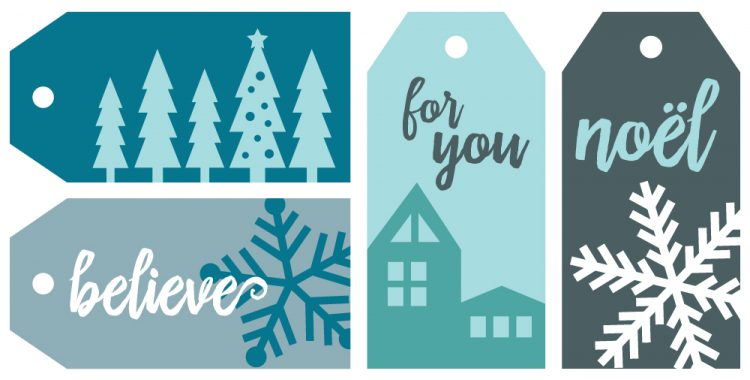 5 Winter Gift Wrap Ideas + Free Printable Gift Tags - Hey, Let\u0027s