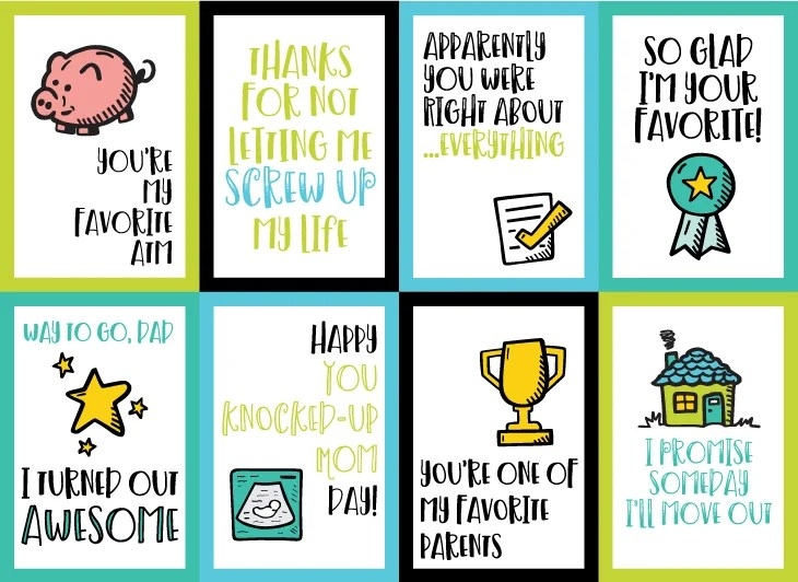 Printable Funny Father\u0027s Day Cards - Hey, Let\u0027s Make Stuff - father day cards