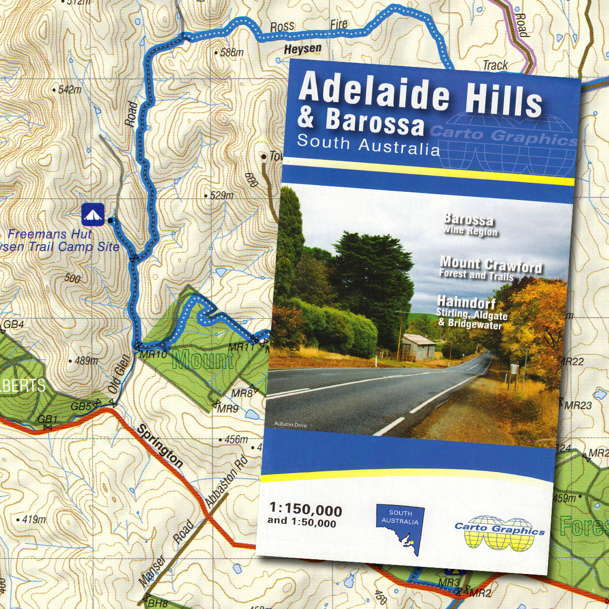 Map Shop Adelaide Adelaide Hills And Barossa Valley Map The Friends Of The