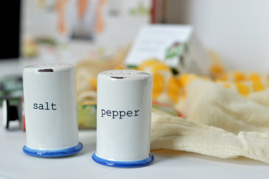 Canvas Home Tinware Salt & Pepper Shakers  from the PopSugar MustHave April 2016 Box. Full Review on Hey There, Chelsie // www.heytherechelsie.com