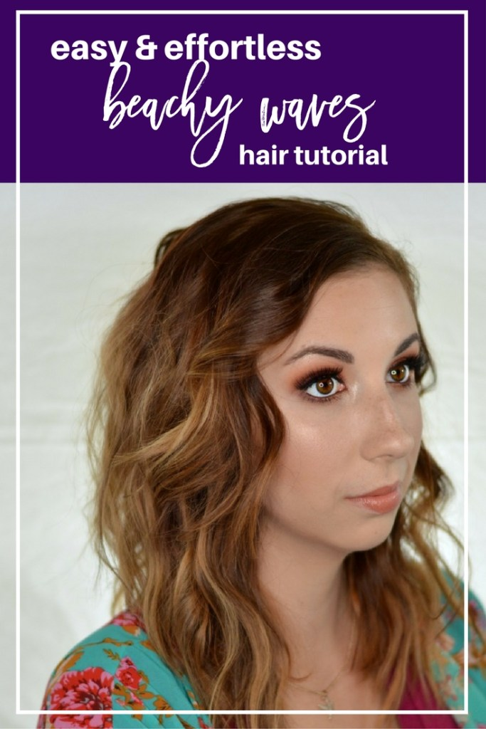Easy and Effortless Beachy Waves Hair Tutorial // Get the perfect, messy, beachy waves using a flat iron and some texturizing spray in minutes! This step by step tutorial will help you get the perfect messy waves fast and without any hassle! // Hey There, Chelsie
